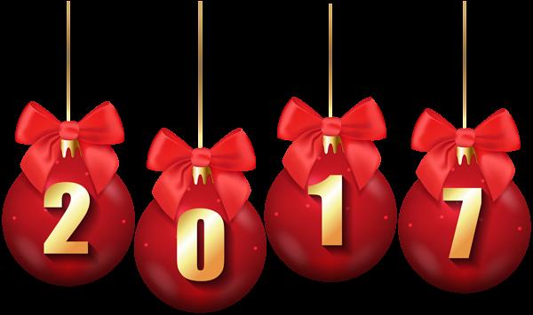 2017 Christmas Balls Transparent PNG Clip Art Image ...