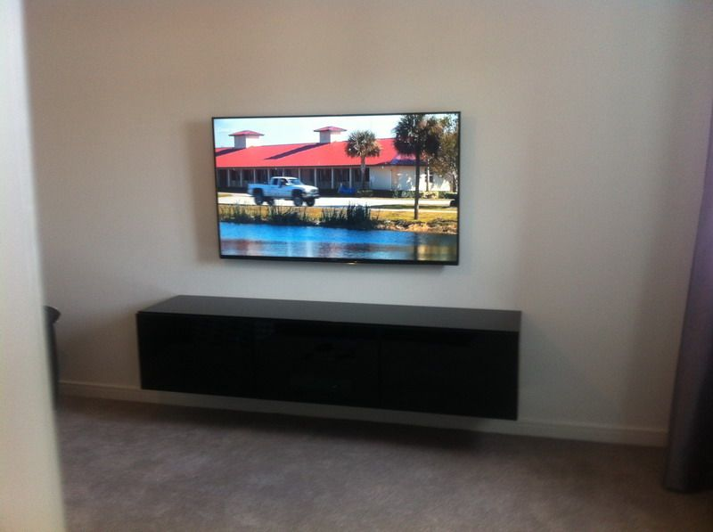 Living Room Smart TV And Media Cabinet Install Carried Out In Cheshire