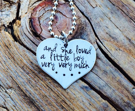 Personalized Hand Stamped And She Loved a Little by APJewelzDesign