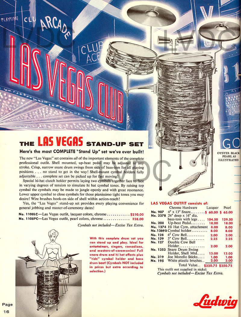 """Ludwig Las Vegas Outfit """"...ideal for...comedians..."""""""