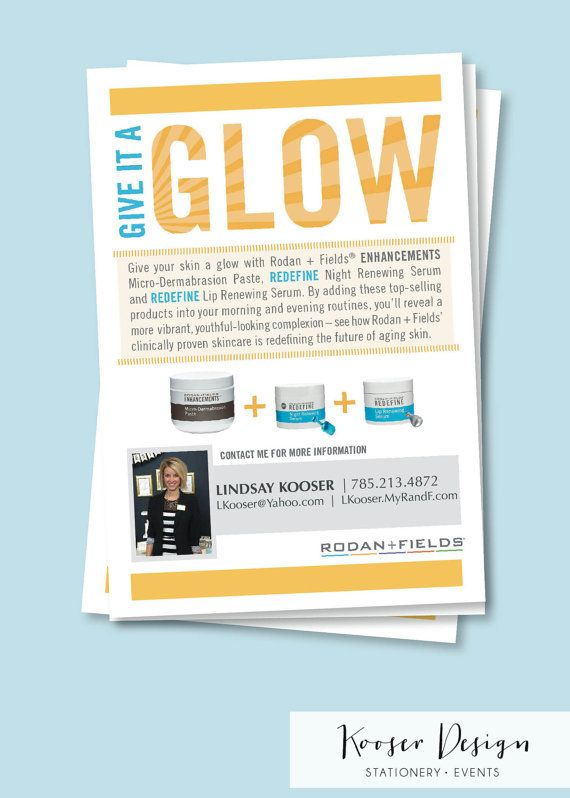 Rodan and Fields Give It A Glow Cards Mini Facial -- this is in a - best of fillable nafta