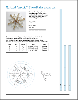 Quilling Snowflake Pattern: Arctic | Paper quilling ...
