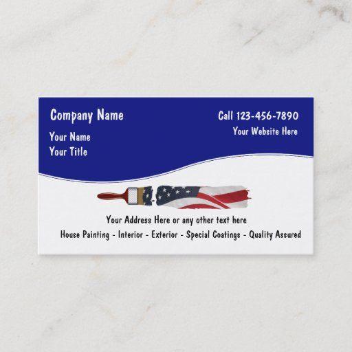Painter Business Cards Zazzle Com In 2021 Painter Business Card Small Business Cards Cool Business Cards