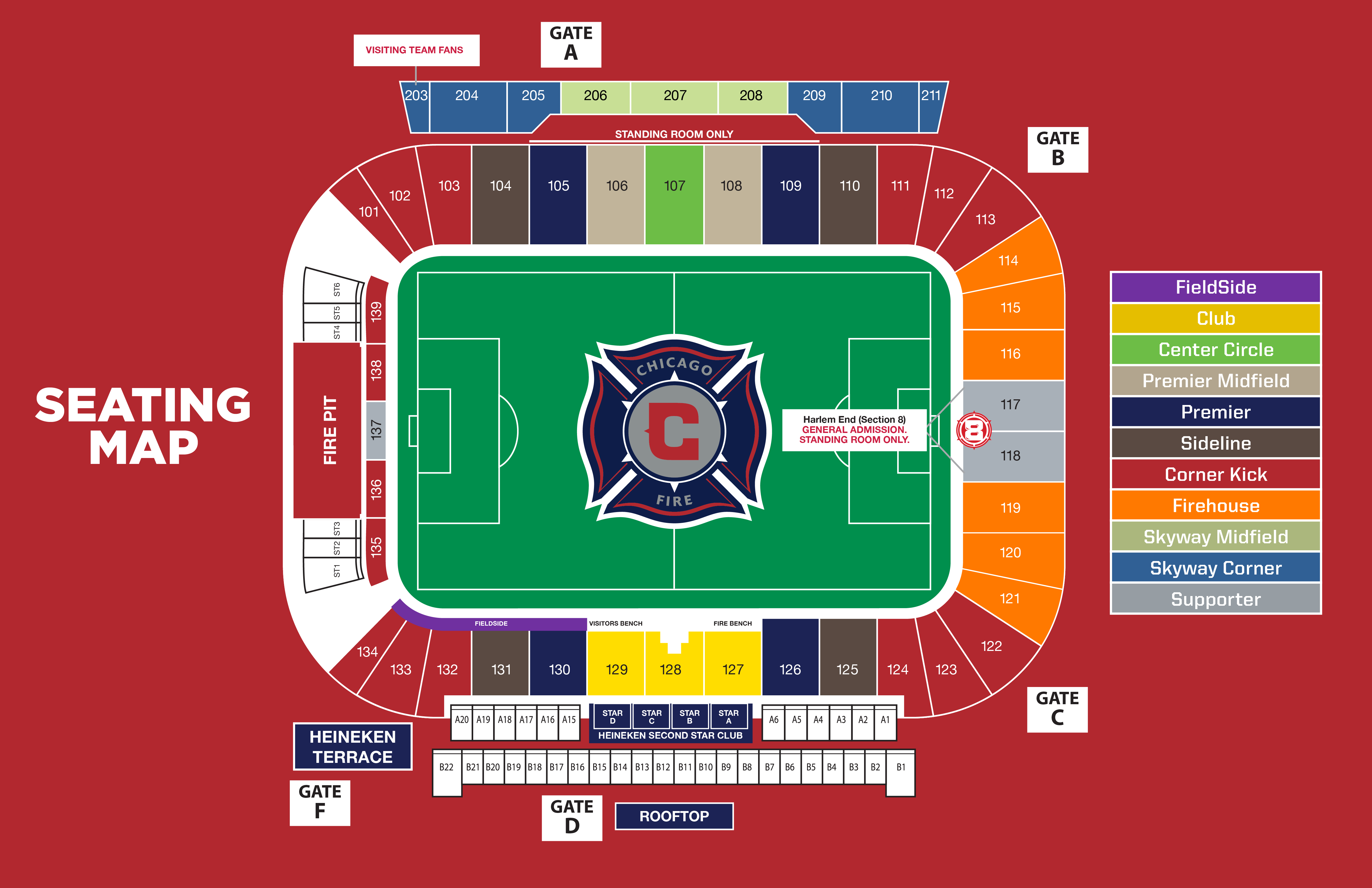 Seatgeek Stadium Seating Map Chicago Fire Chicago Map Stadium Digital Signage