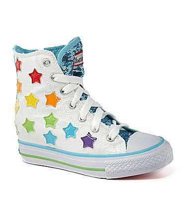 skechers girls wedge sneakers