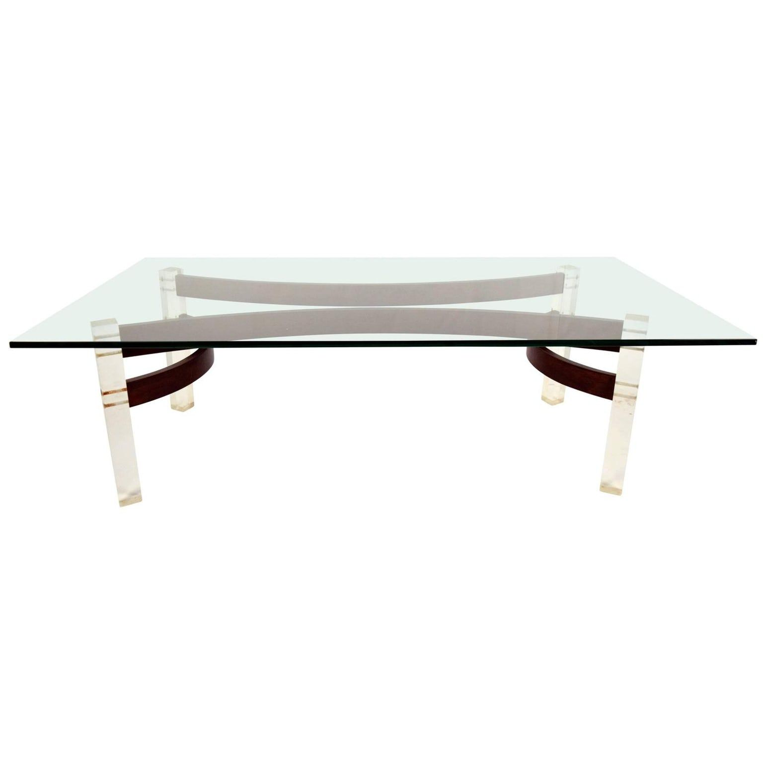 Mid Century Glass Top Coffee Table With Lucite Legs Midcentury Modern Modern Scandin Mid Century Modern Coffee Table Mid Century Glass Glass Top Coffee Table [ 1540 x 1540 Pixel ]