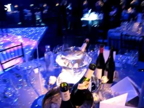 Wedding Ice sculpture table centres   Ice champagne bucket