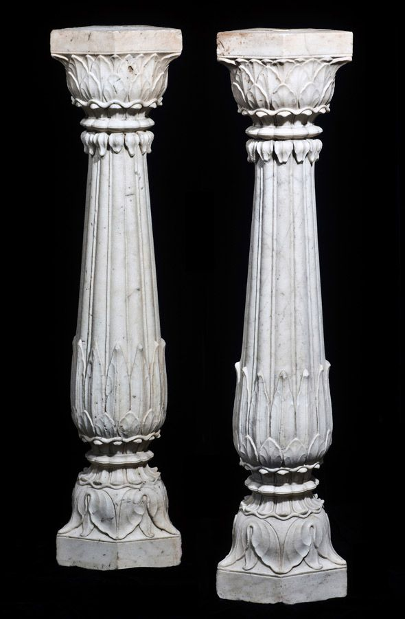 Marble Columns India Mughal 18th Century Acanthus Leaves Design India 39 S Patterns