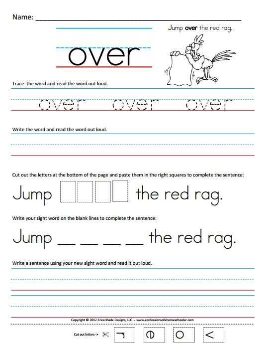 "Free Homeschool Worksheets: First Grade Sight Word Sentences ??"" The ..."