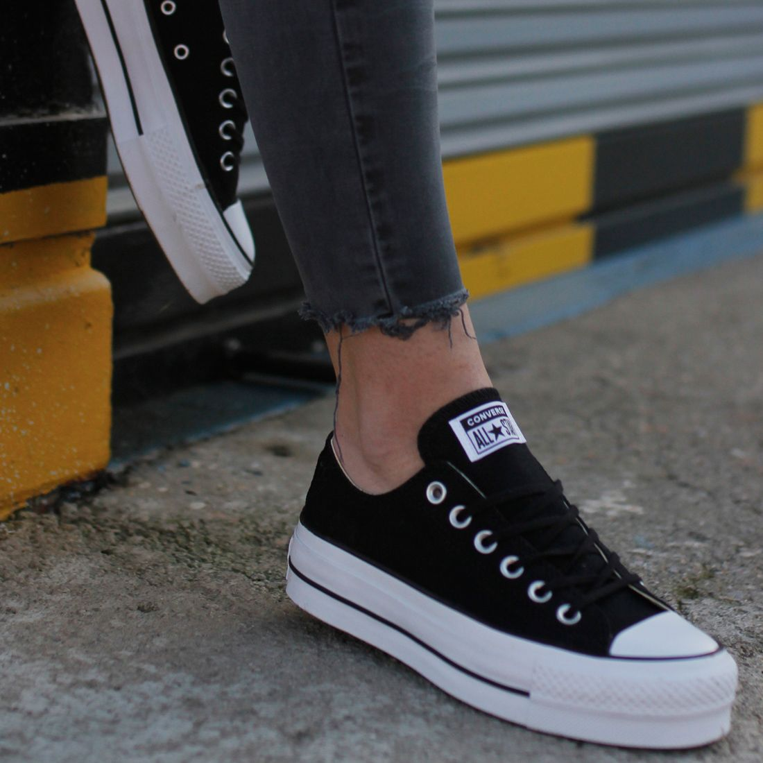 converse all star plataforma niña