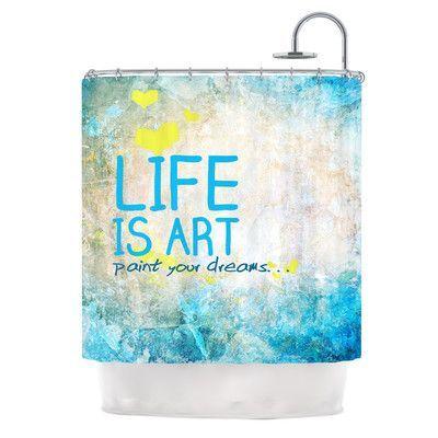 KESS InHouse Life Is Art Shower Curtain