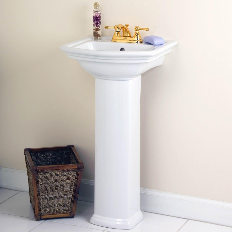 Mini Washington Pedestal Sink 4 Centers Pedestal Sinks