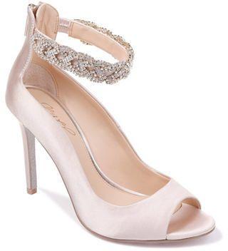 98e0f2521688 Jewel Badgley Mischka Alanis Rhinestone Peep Toe Heels