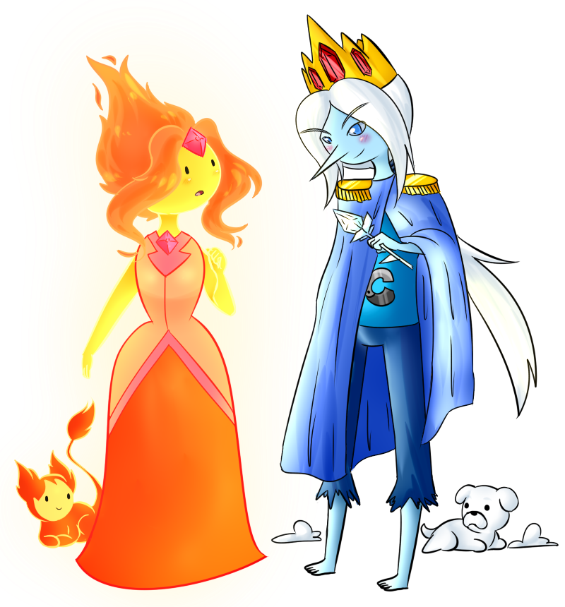 Flame Princess And Ice Prince Finn By Rumay Chian