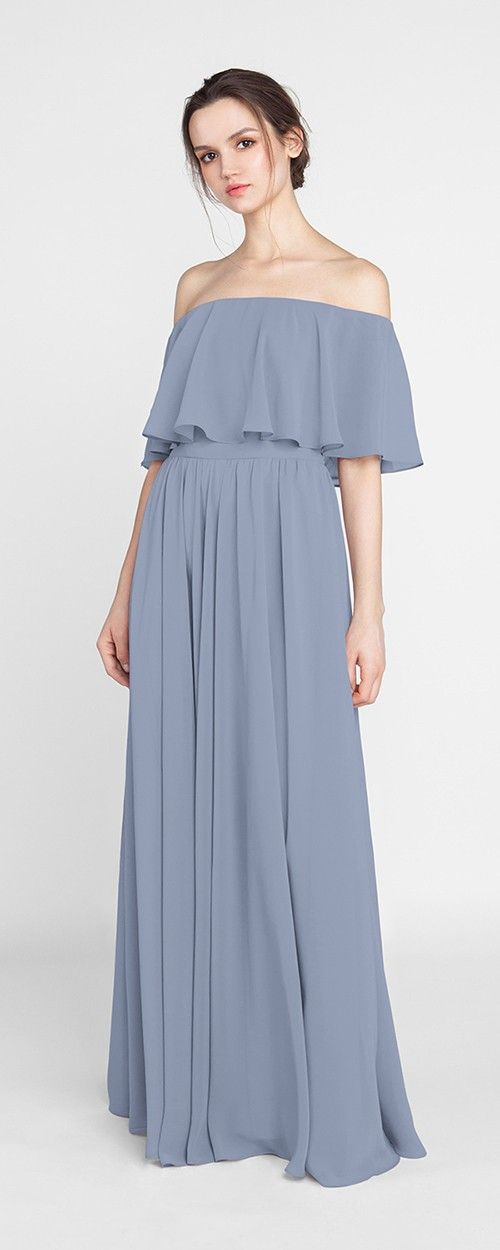 4a9a4d4abd Bohemian Style Off Shoulder Full Length Bridesmaid Dress TBQP388 ...