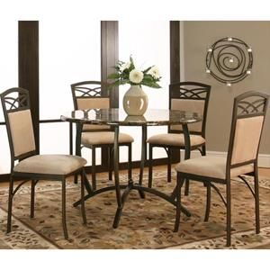 Atlas Dining Table and 4 Chairs in Espresso