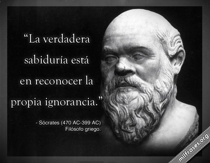 Socrates La Sabiduría Está En Reconocer La Propia
