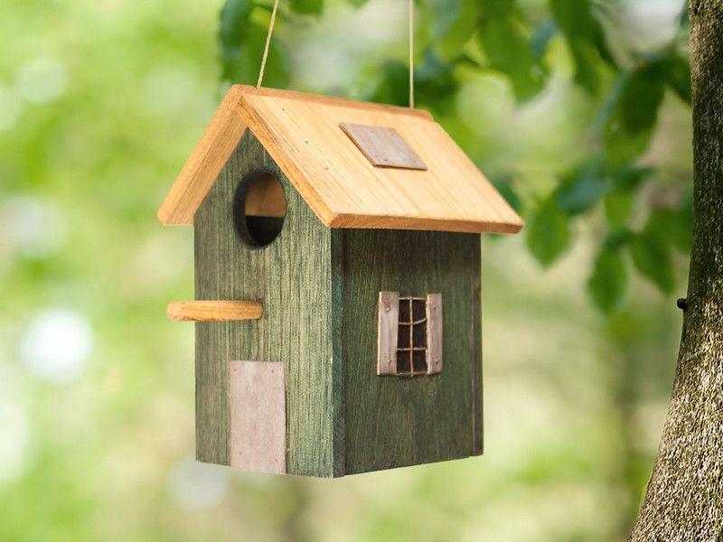 P jaros casita de p jaros de madera casa para p jaros ni hecho a mano por la luz del - Casa para pajaros ...