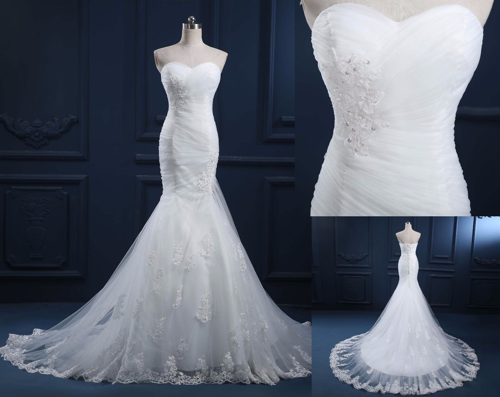 Size 6 wedding dress  Nice Awesome  New Designer Whiteivory Lace Wedding Dress Bridal