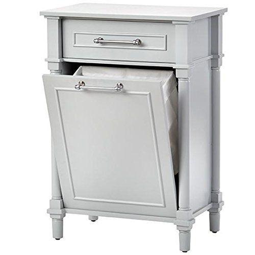 "$100 Amazon.com: Aberdeen Bathroom Hamper, 34.6""Hx24""Wx16""D, DOVE GREY: Home & Kitchen"
