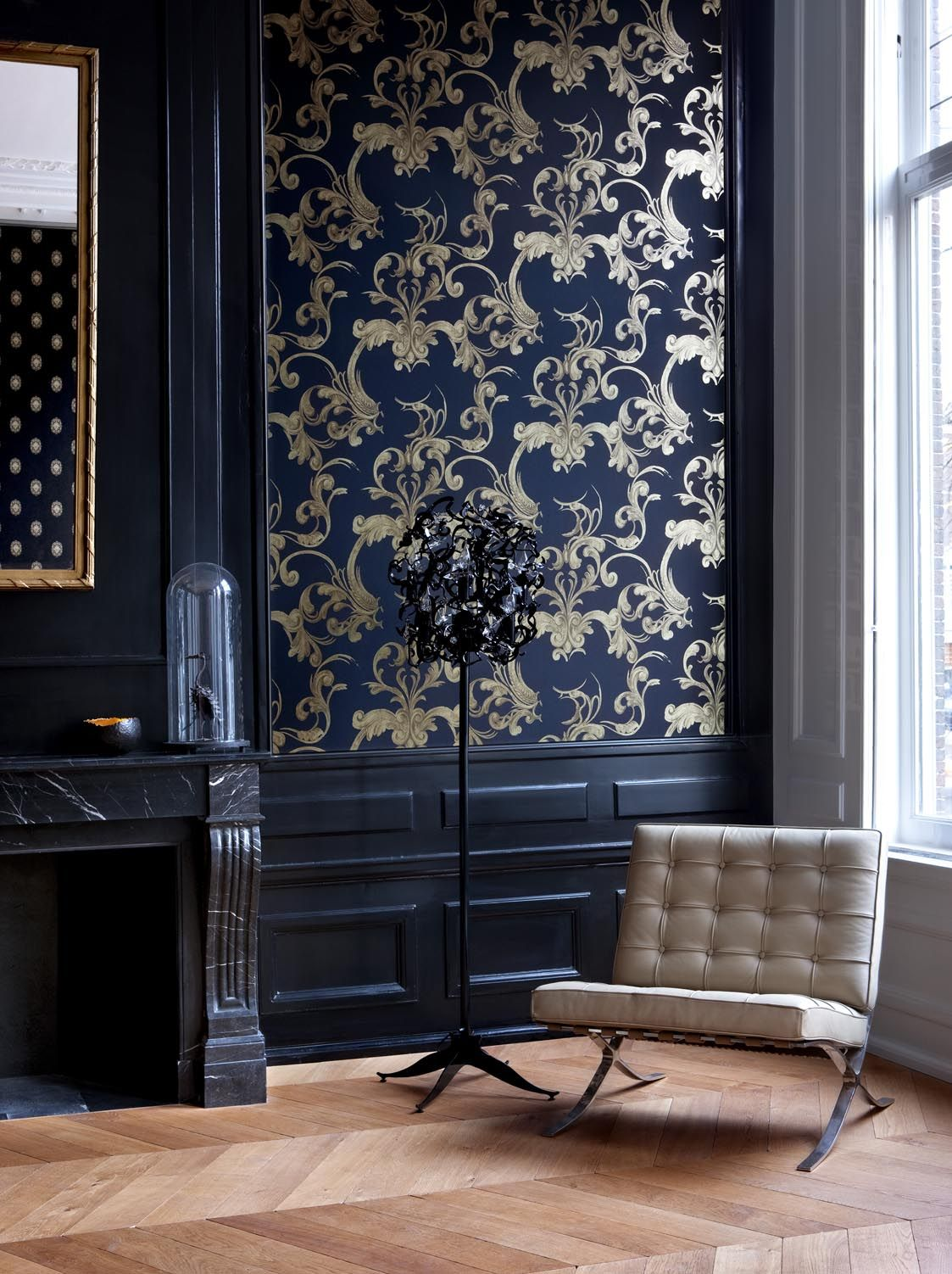 Gold Wallcoverings / Goud Behang collectie Gardens of Amsterdam Annet van Egmond - BN Wallcoverings
