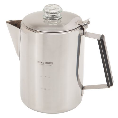 Magellan Outdoors 9 Cup Stainless Steel Percolator Coffee