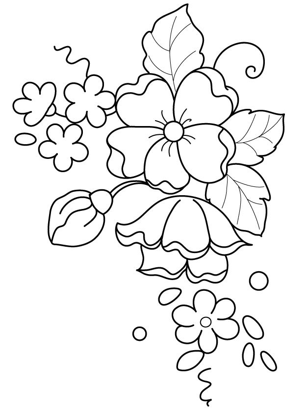 Possible Pattern For Brush Embroidery Dung Tranh Pinterest