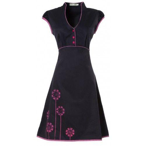 Ecouture by Lund - JOBI - kjole i økologisk, håndprintet bomuldssatin