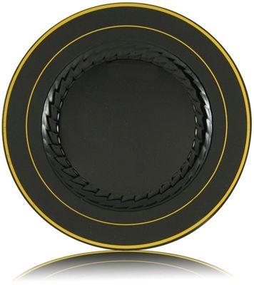Black Splendor plates, by @Fineline Settings