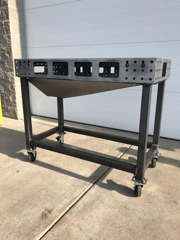 Certiflat 24x48 heavy duty plasma table welding table
