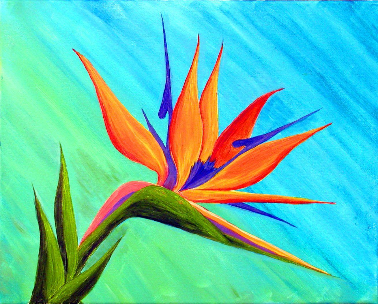 Bird Of Paradise1 Jpg 1310 1054 Paradise Painting Hawaiian Art Flower Painting