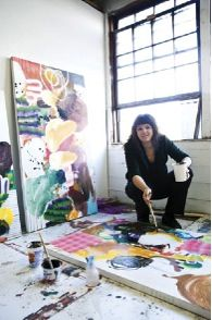 Fiona Ackerman in her studio