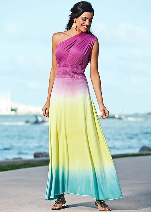 aaf6605bd3 Strapless Dress Formal · Summer Time · Dressy Outfits · Ombre maxi dress,  sandals in | VENUS Ombre Maxi Dress, Formal Dress Shops,