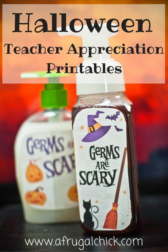 Teacher Appreciation Halloween Printable Maestros