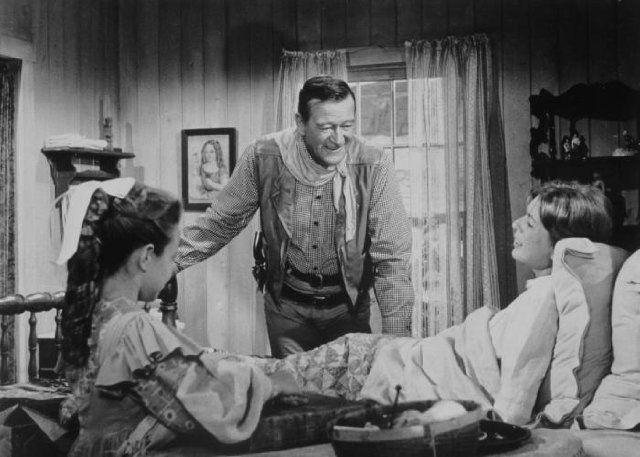 Still Of John Wayne And Aissa Wayne In The Comancheros 1961