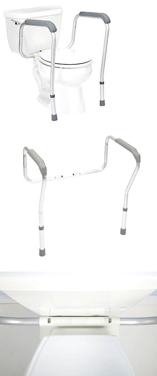 Handles and Rails: Grab Bars Adjustable Toilet Safety Rail Seat ...
