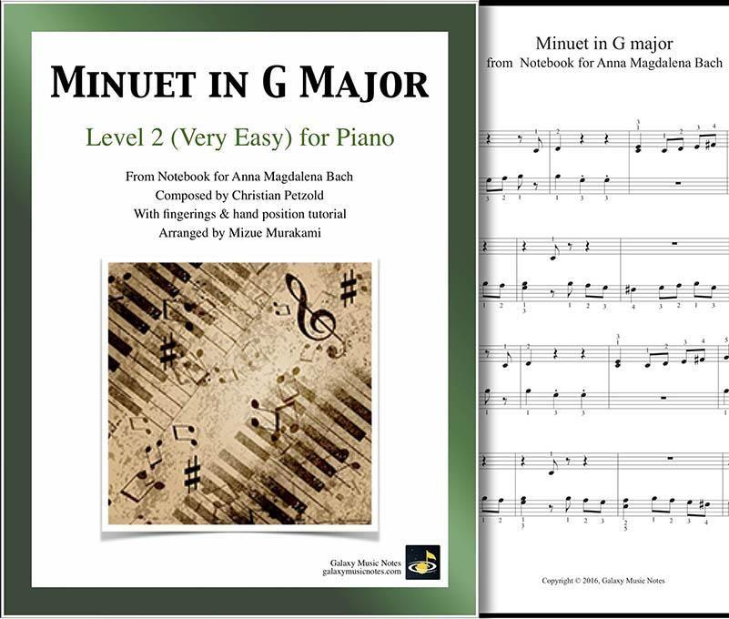 Minuet In G Major Minuet In G Major Piano Sheet Music Multi