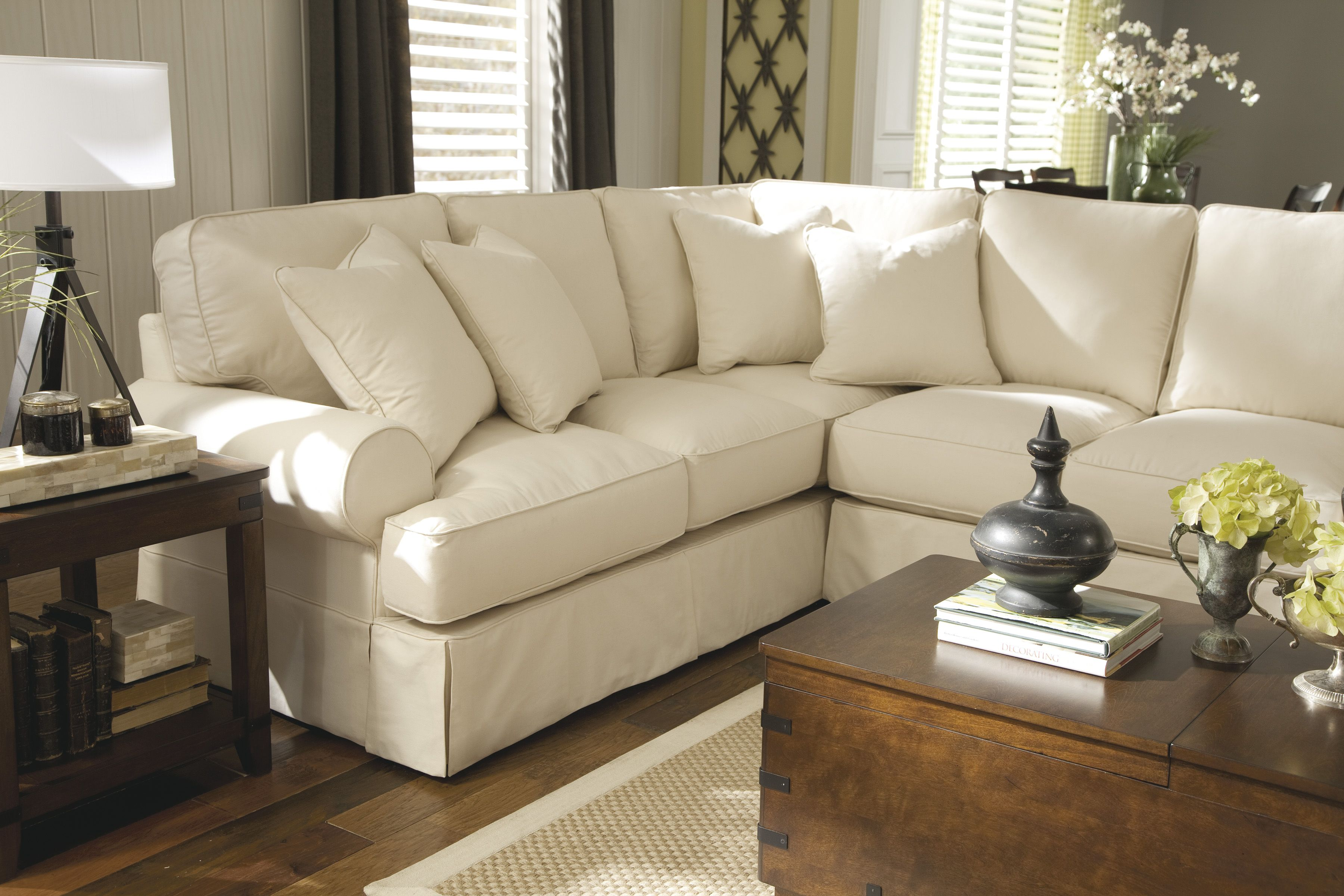 Ashley Furniture sofa sectional couch pillow cushion lamp