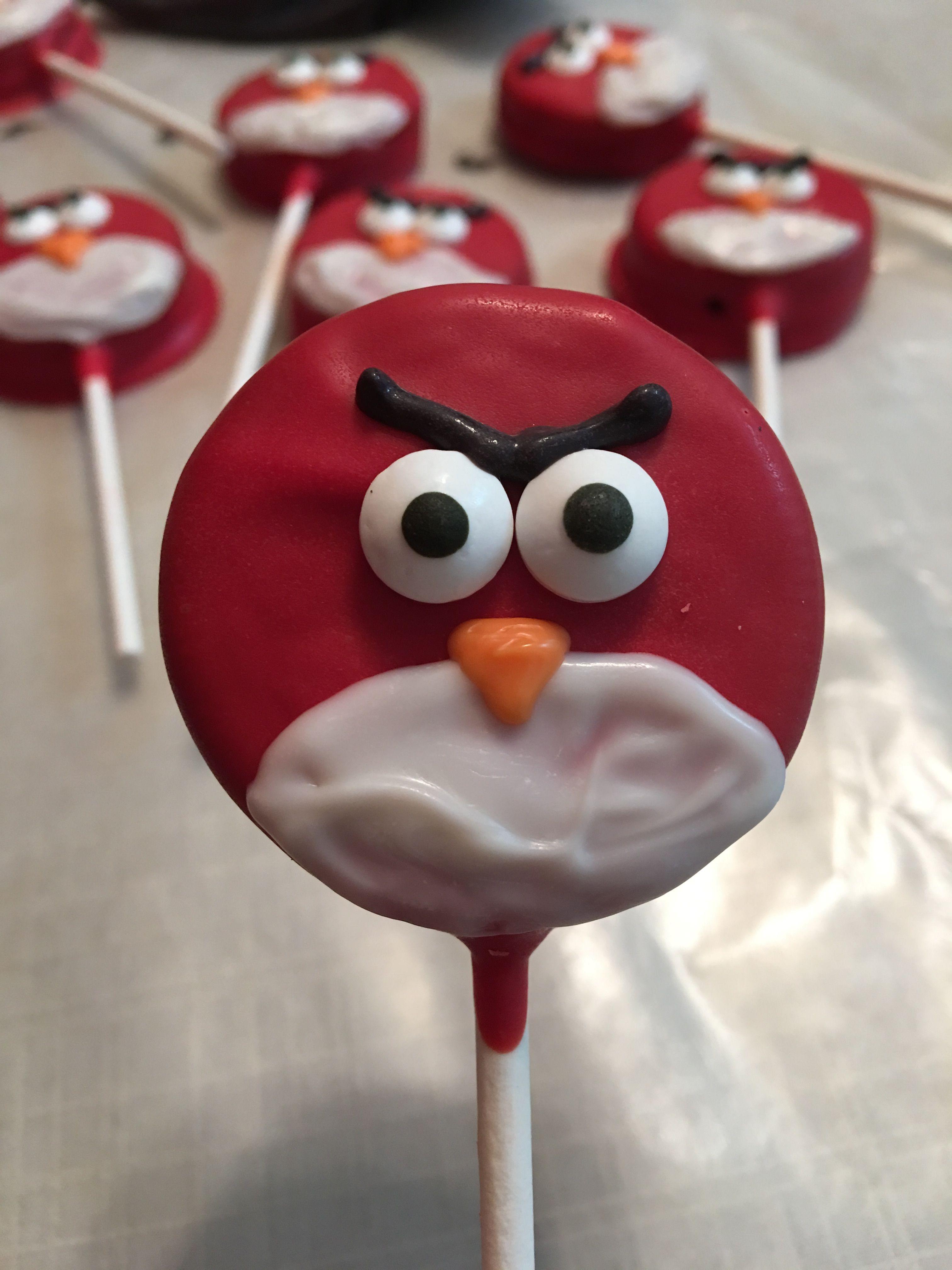Angry bird oreo pop cookie pops oreo pops oreo