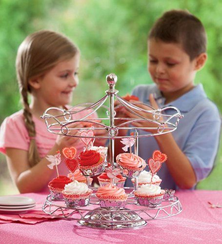 Godinger Serveware, Carousel Cupcake Stand, 2015 Amazon Top Rated Cupcake Stands #Home