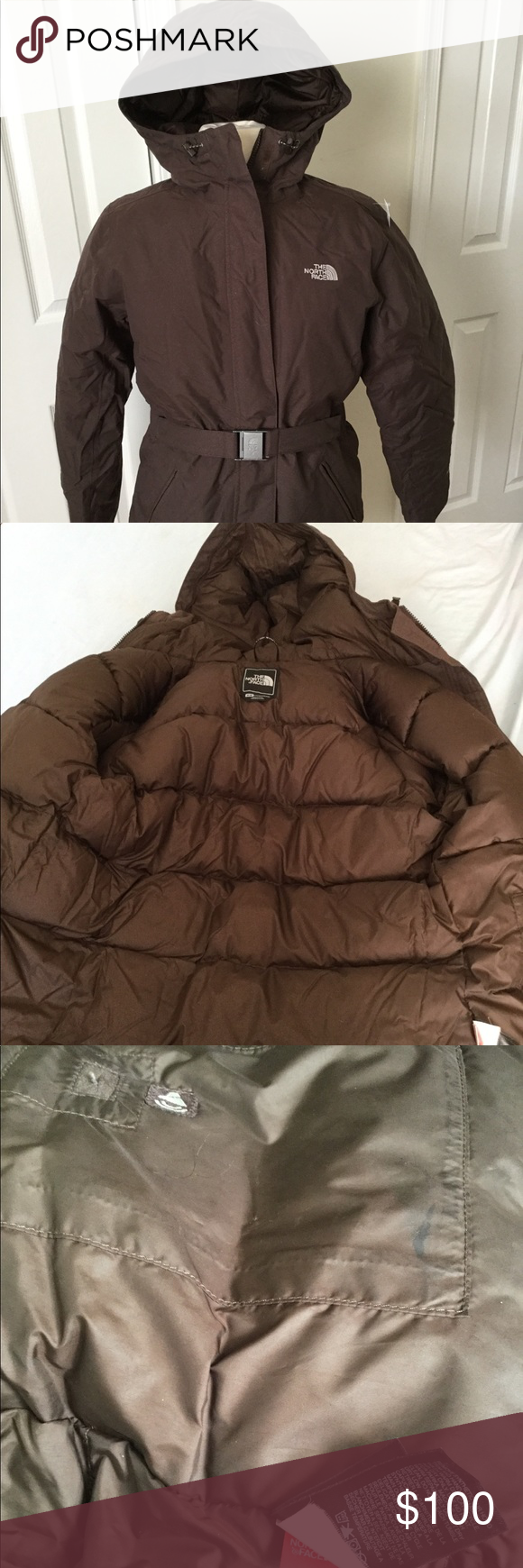 North Face Womens Hyvent Belted Down Jacket Med North Face Women Down Jacket The North Face [ 1740 x 580 Pixel ]