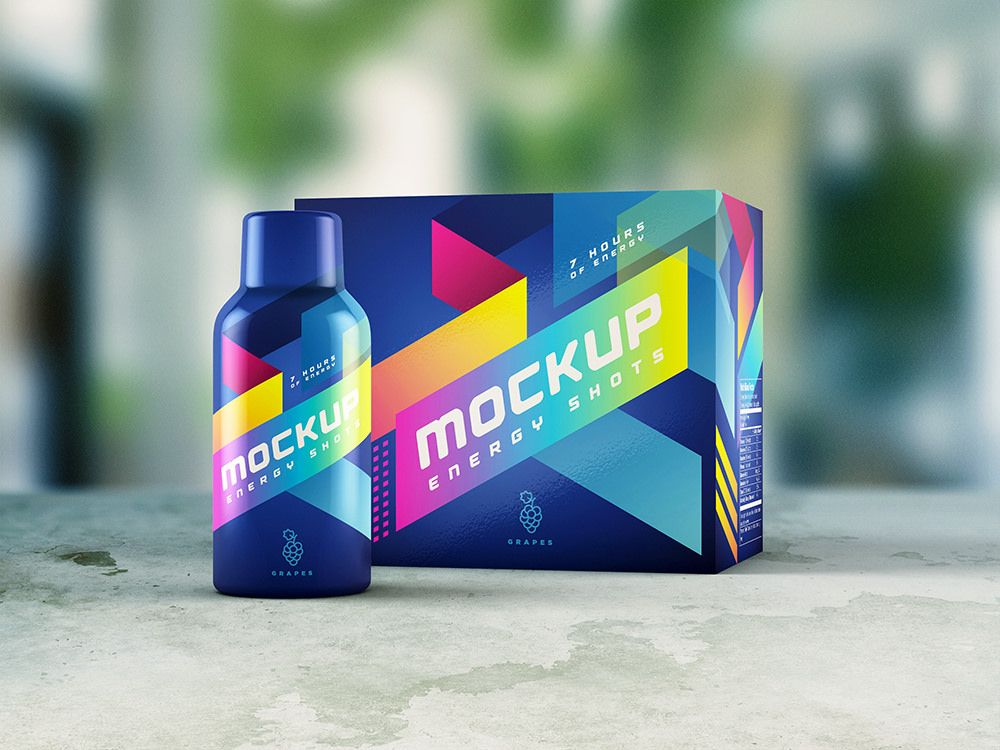 Energy Shot Energy Drink Mockup Energy Drinks Energy Shots Sports Drink Packaging