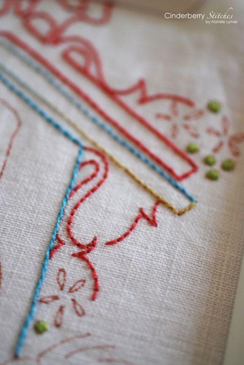 Backstitch Stem Stitch And Satin Stitch On Gorgeous Linen I Am A
