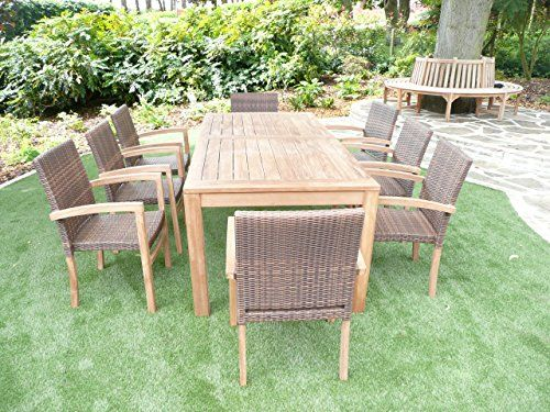 Teak Garden Furniture 9 Piece