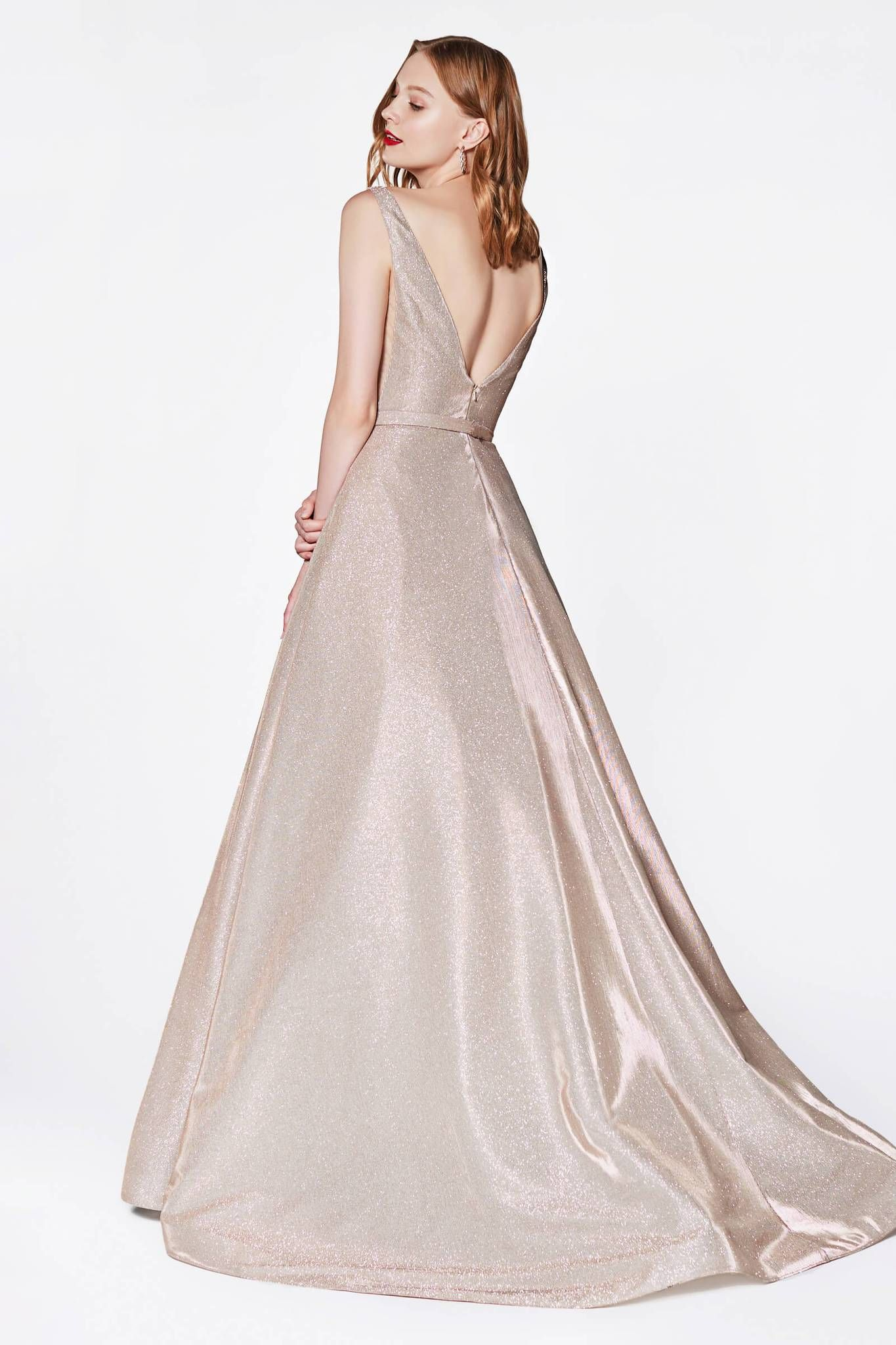 161042fca Long Metallic Plus Size Prom Dress - The Dress Outlet   Plus Size ...
