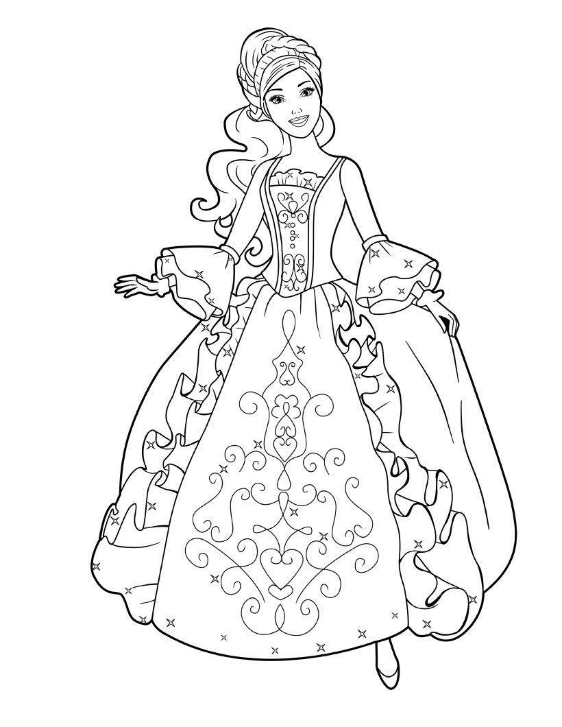 Barbie Ausmalbilder Drucken : Dibujos De Barbie Princesa Para Colorear Para Colorear Pinterest