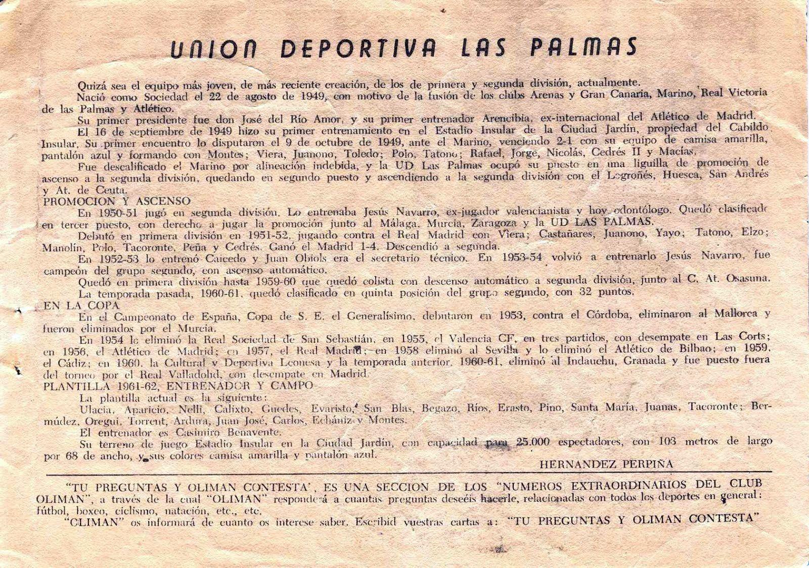 U. D. LAS PALMAS
