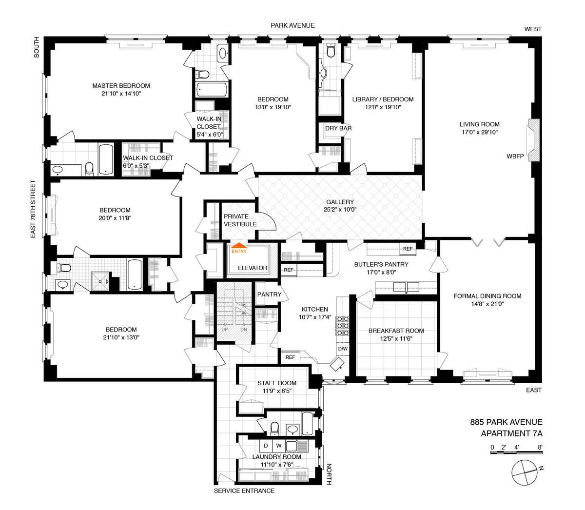 Palatial Upper East Side Apartment With Classic Details Asks 10 8m Upper East Side Apartment Luxury Floor Plans Apartment Floor Plans