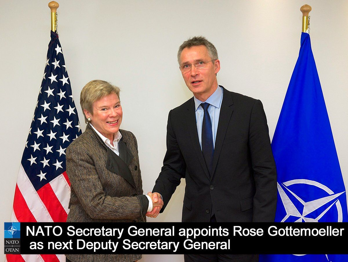 """NATO on Twitter: """"SG @JensStoltenberg appoints Rose @Gottemoeller as next #NATO Deputy Secretary General https://t.co/LAwZdVjg6I https://t.co/78FbTalzUn"""""""