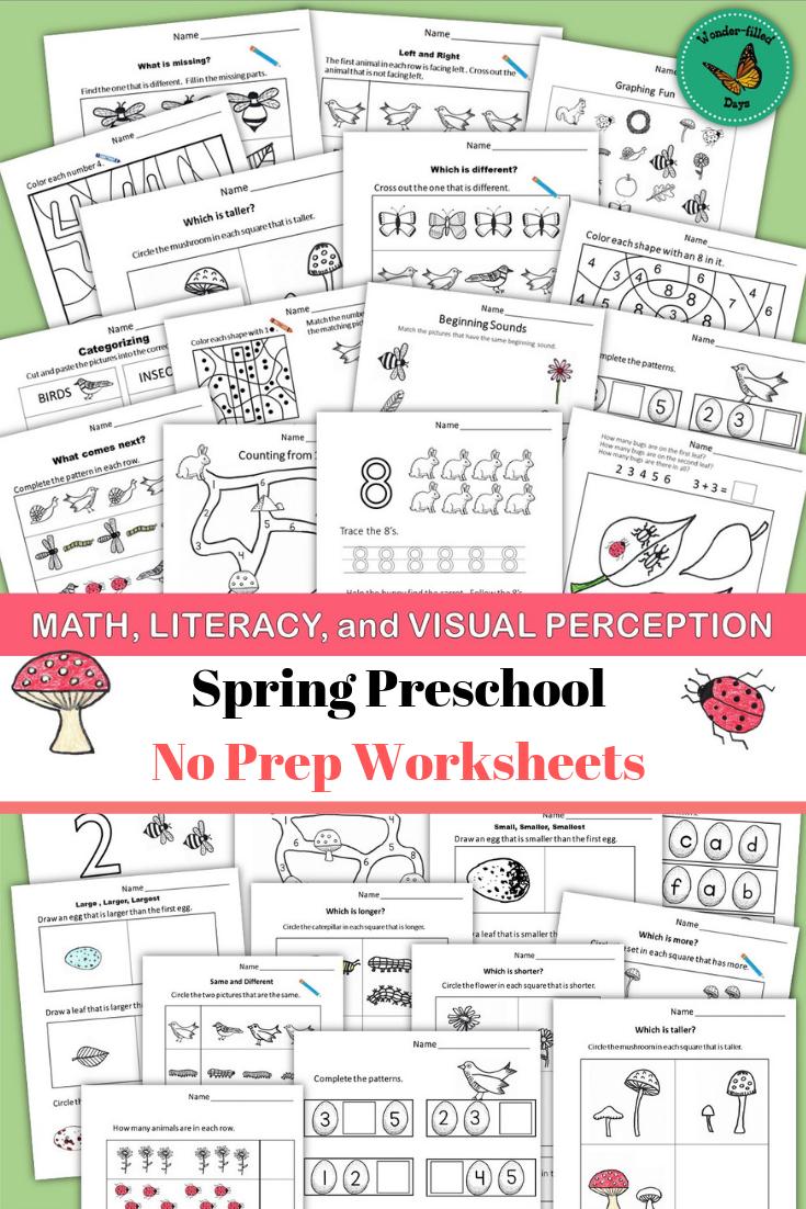 Spring Preschool Worksheets Preschool Math Worksheets Spring Worksheets Preschool Graphing Activities [ 1102 x 735 Pixel ]